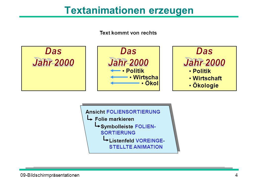 Textanimationen erzeugen