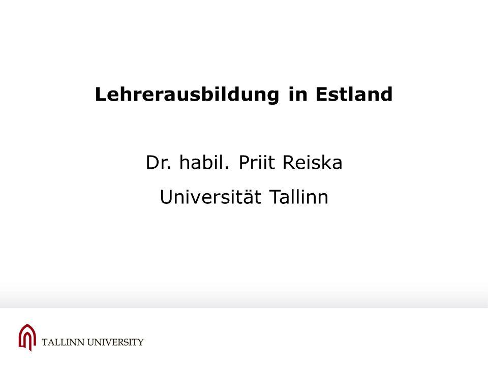 Lehrerausbildung in Estland