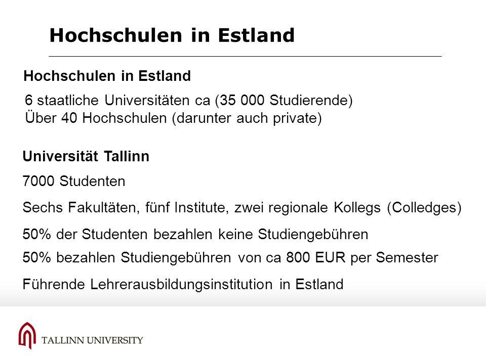 Hochschulen in Estland