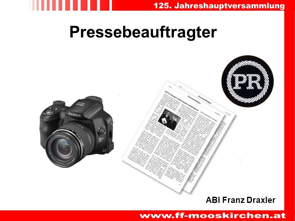 Pressebeauftragter ABI Franz Draxler