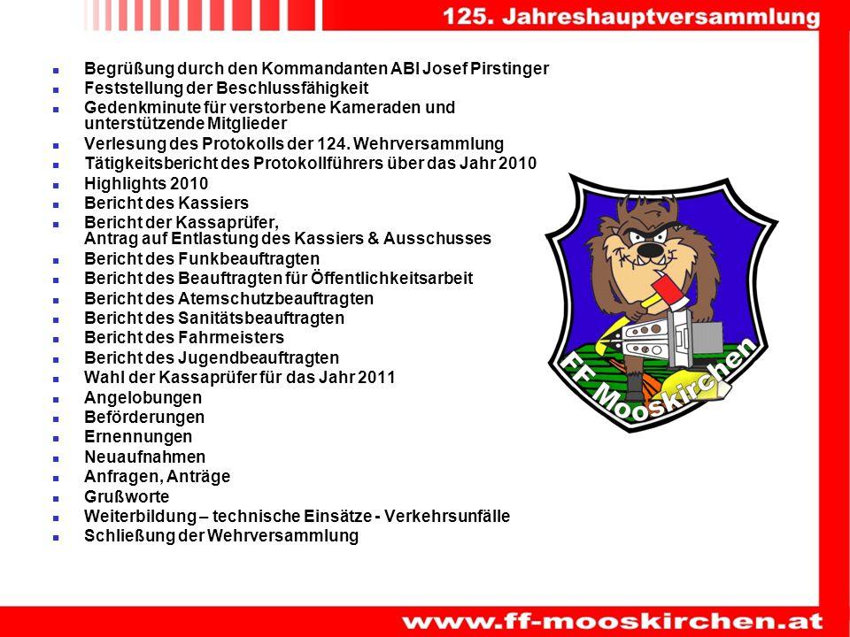Begrüßung durch den Kommandanten ABI Josef Pirstinger