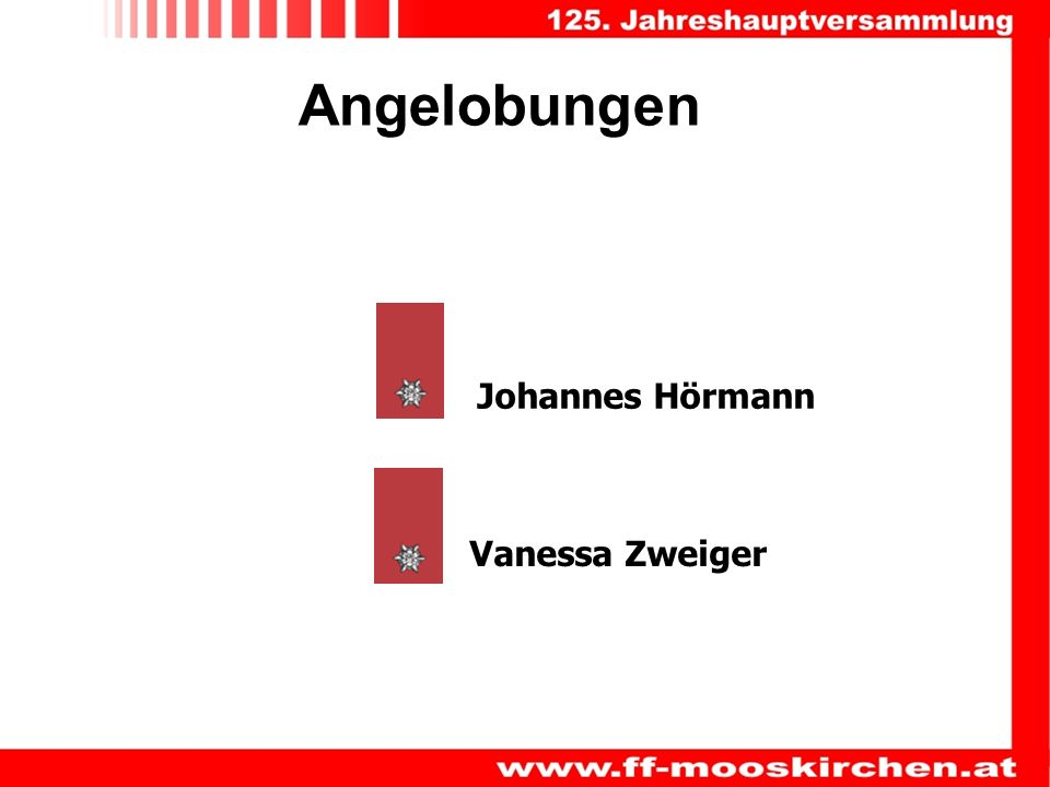Angelobungen Johannes Hörmann Vanessa Zweiger