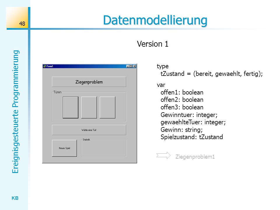 Datenmodellierung Version 1