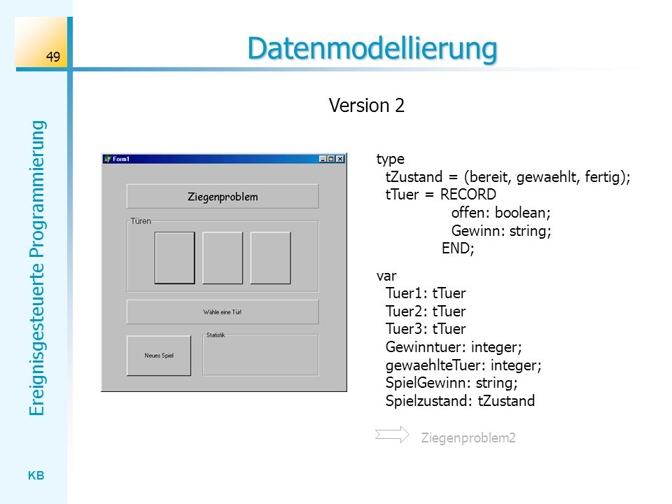 Datenmodellierung Version 2