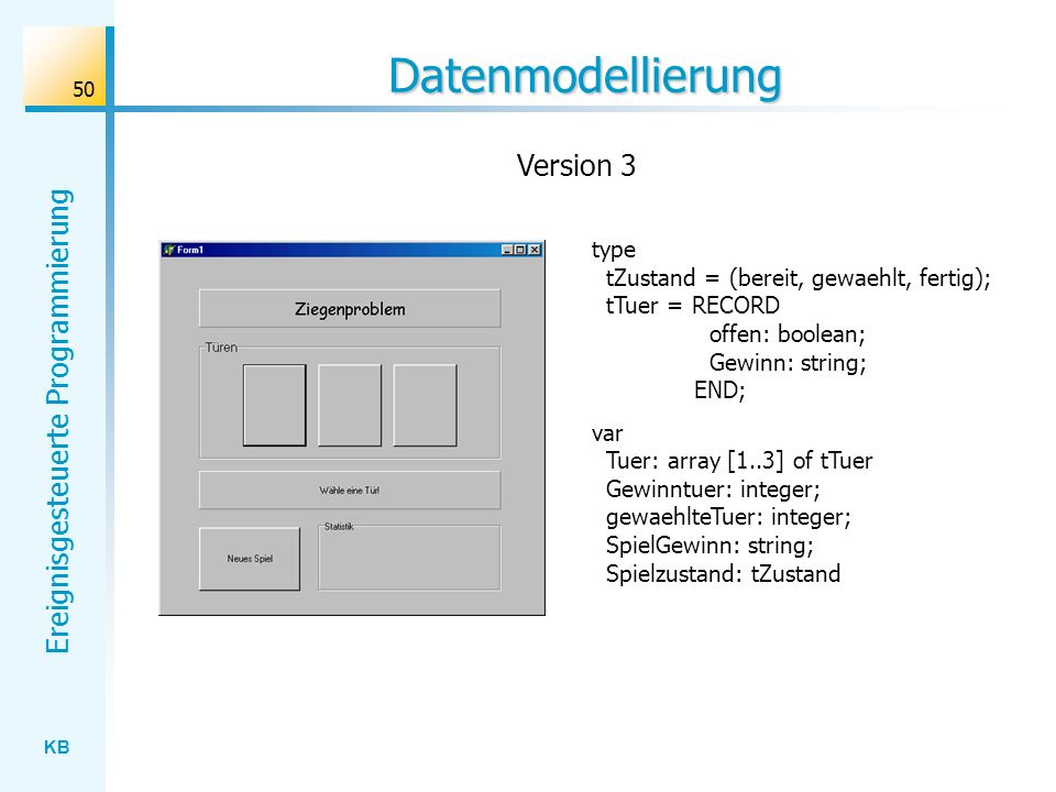 Datenmodellierung Version 3