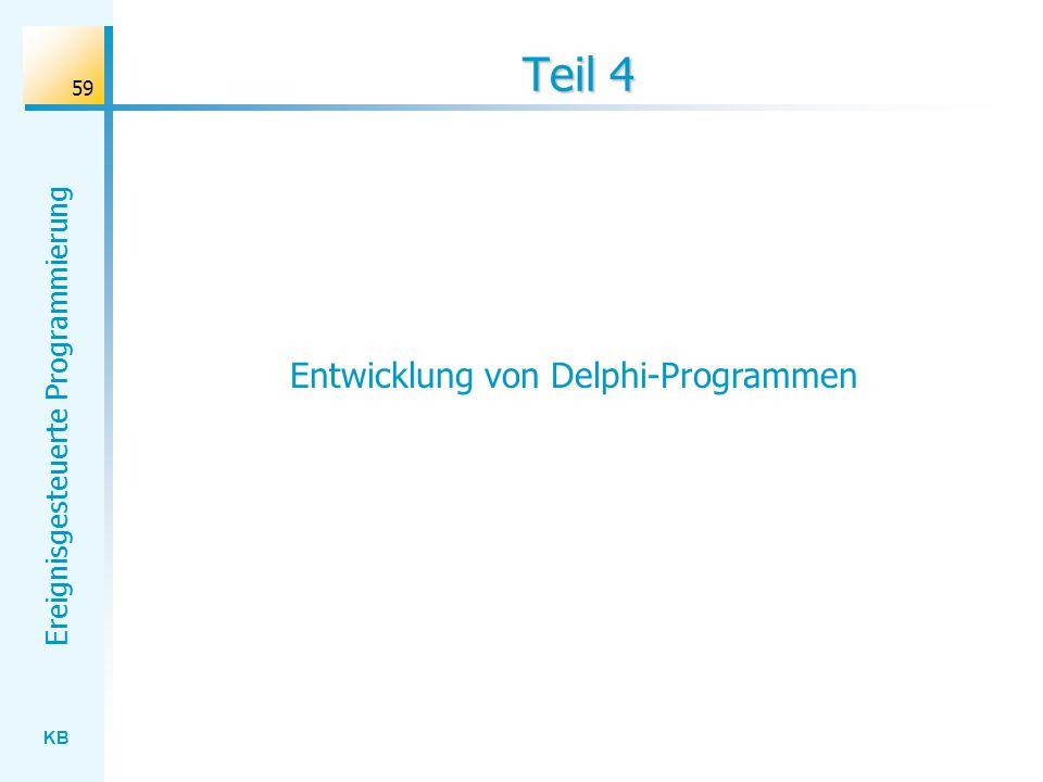Entwicklung von Delphi-Programmen