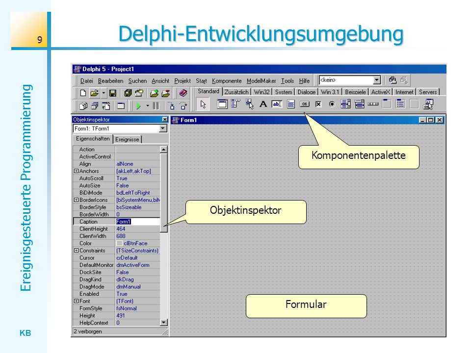 Delphi-Entwicklungsumgebung
