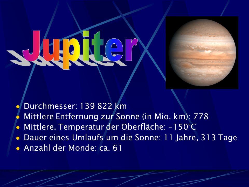 Jupiter Durchmesser: 139 822 km