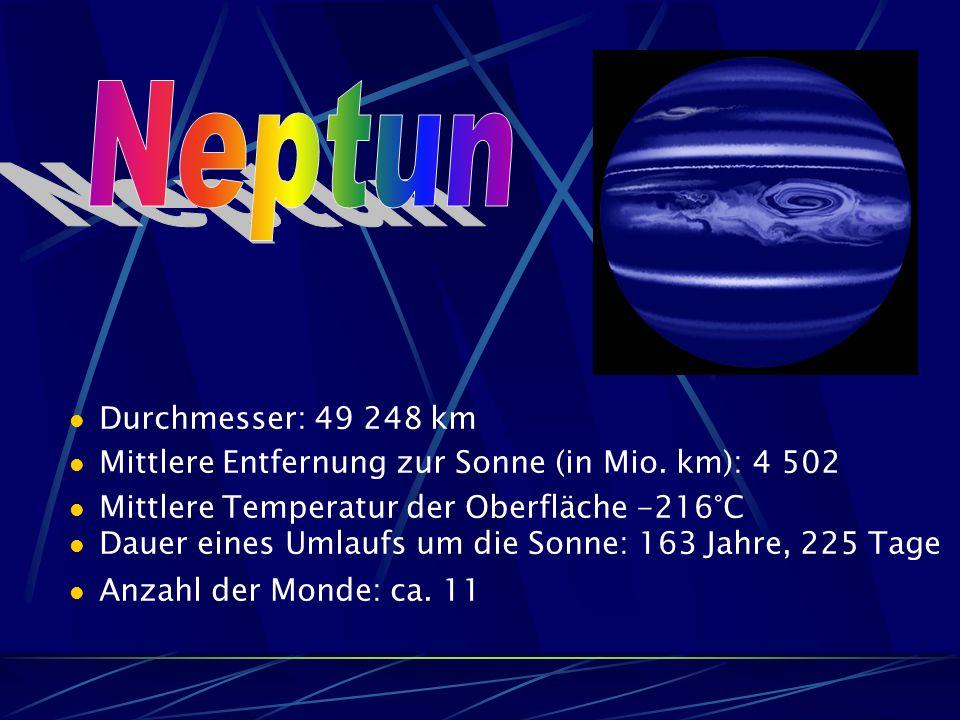 Neptun Durchmesser: 49 248 km