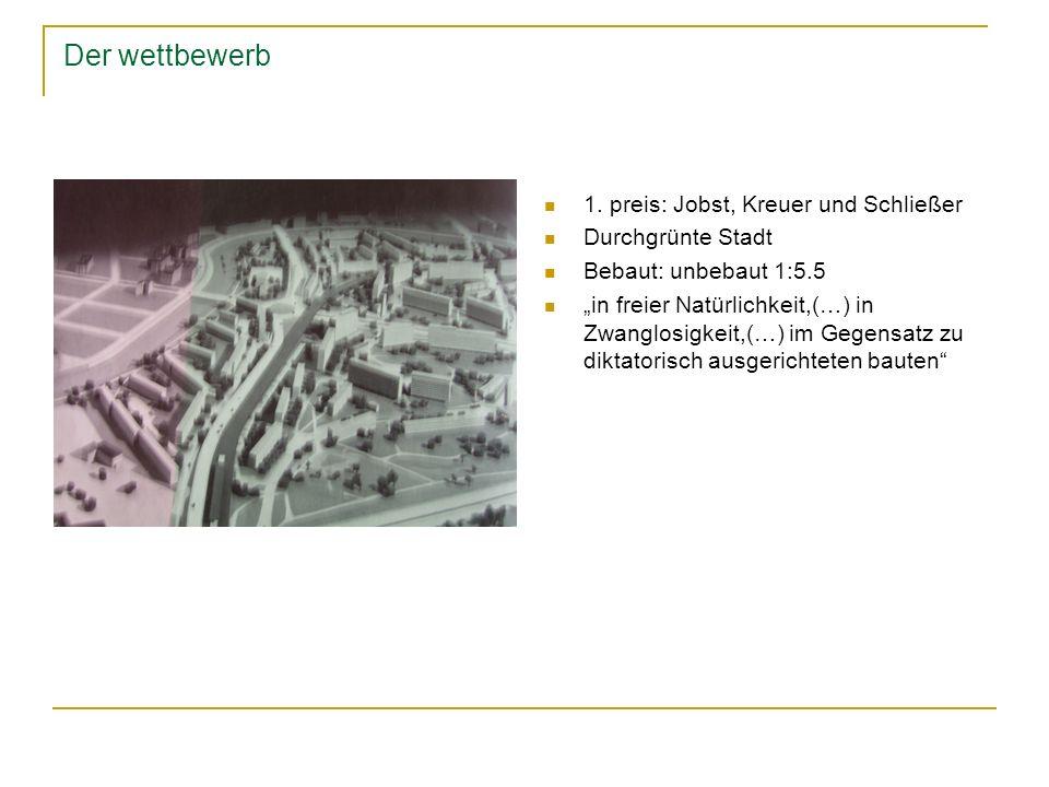 Der wettbewerb 1. preis: Jobst, Kreuer und Schließer Durchgrünte Stadt