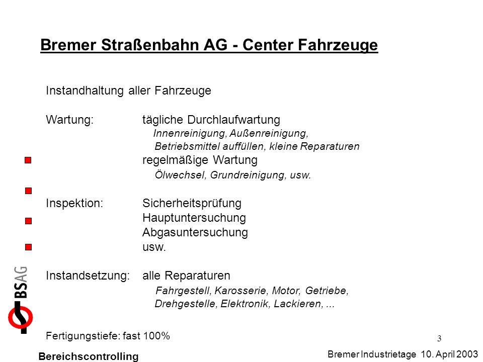 Bremer Straßenbahn AG - Center Fahrzeuge