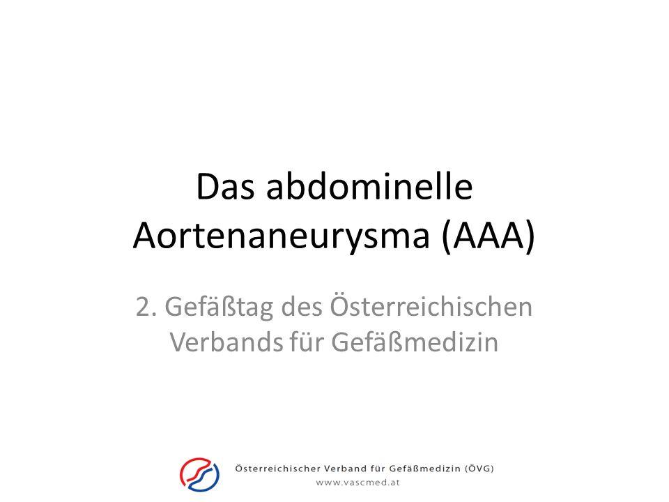 Das abdominelle Aortenaneurysma (AAA)