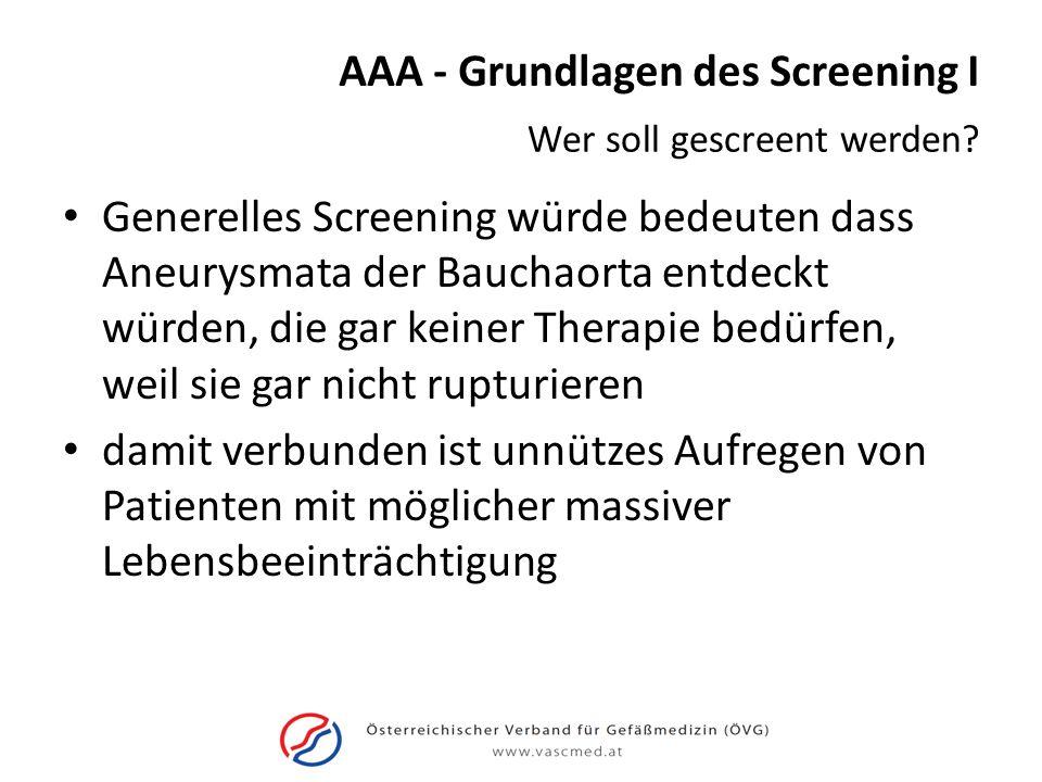 AAA - Grundlagen des Screening I