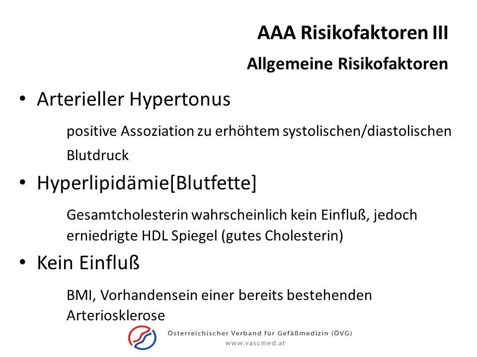 AAA Risikofaktoren III