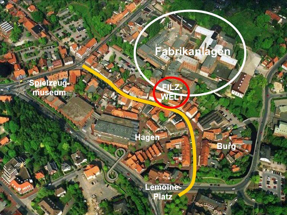 Fabrikanlagen Spielzeug-museum FILZ- WELT Hagen Burg Lemoine- Platz