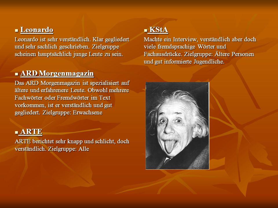 Leonardo ARD Morgenmagazin ARTE KStA