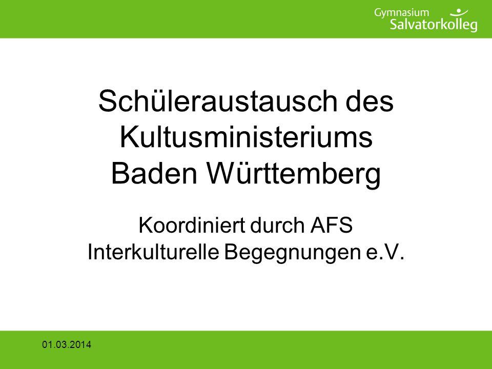 Schüleraustausch des Kultusministeriums Baden Württemberg