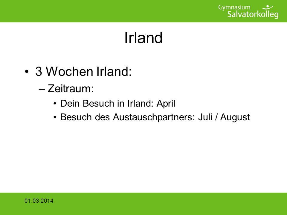 Irland 3 Wochen Irland: Zeitraum: Dein Besuch in Irland: April