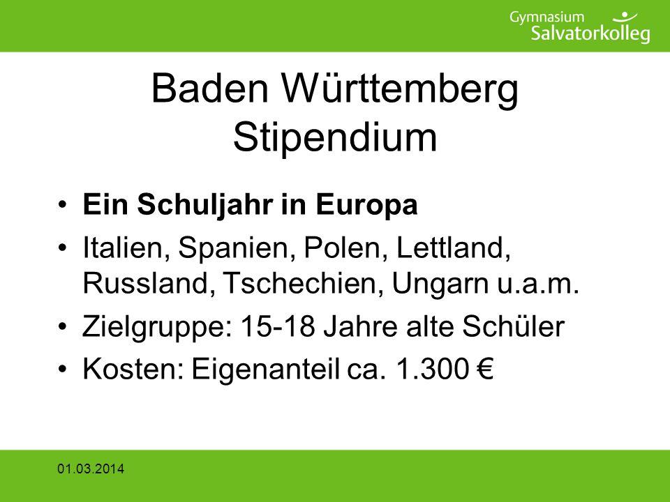 Baden Württemberg Stipendium