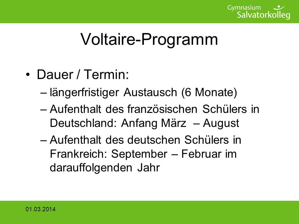 Voltaire-Programm Dauer / Termin: längerfristiger Austausch (6 Monate)