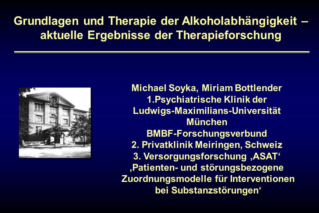 Grundlagen und Therapie der Alkoholabhängigkeit – aktuelle Ergebnisse der Therapieforschung