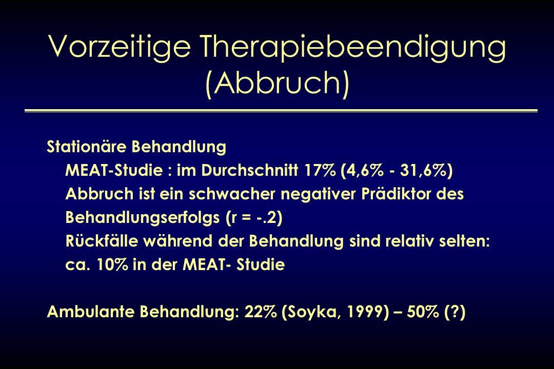 Vorzeitige Therapiebeendigung (Abbruch)
