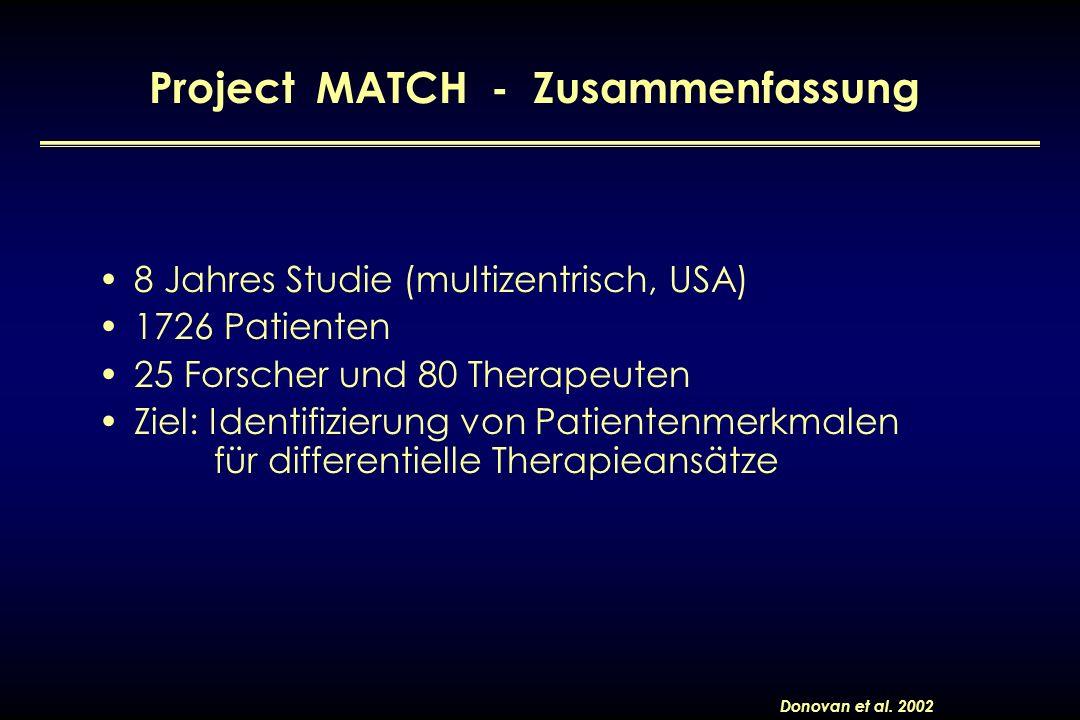 Project MATCH - Zusammenfassung