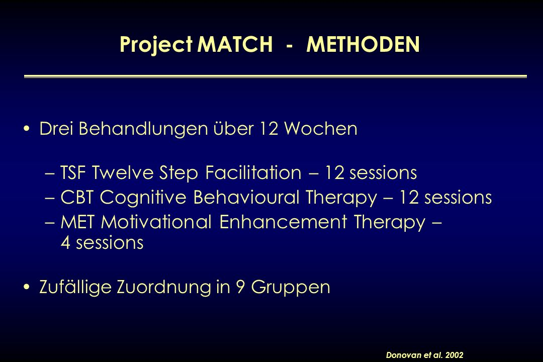 Project MATCH - METHODEN