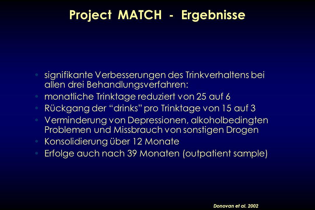 Project MATCH - Ergebnisse