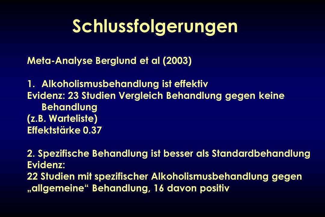 Schlussfolgerungen Meta-Analyse Berglund et al (2003)