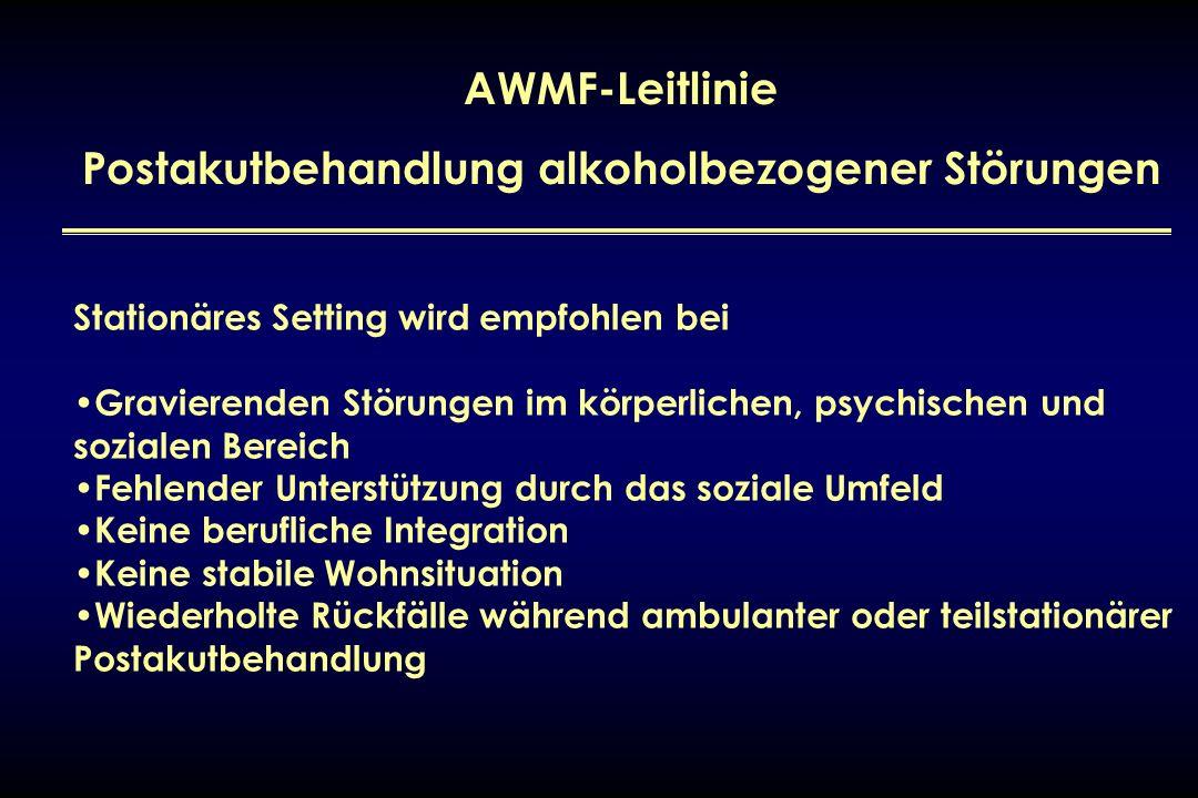 Postakutbehandlung alkoholbezogener Störungen