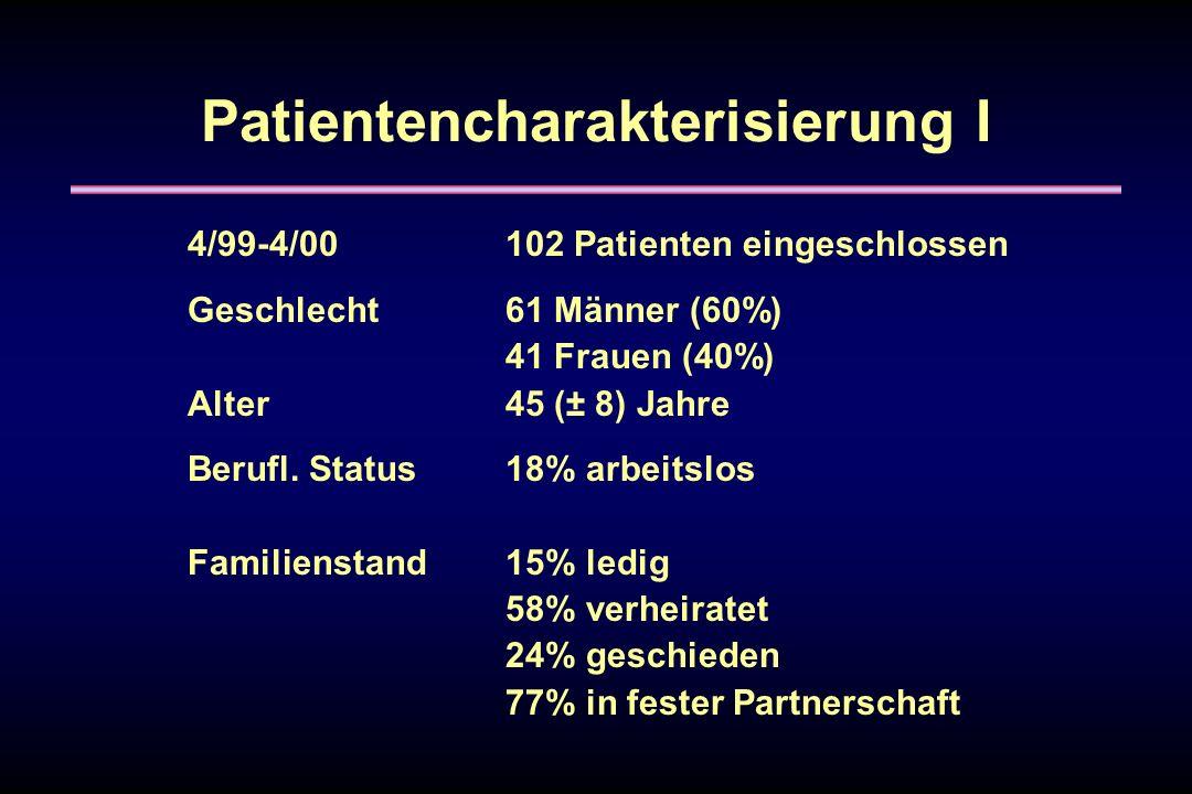Patientencharakterisierung I
