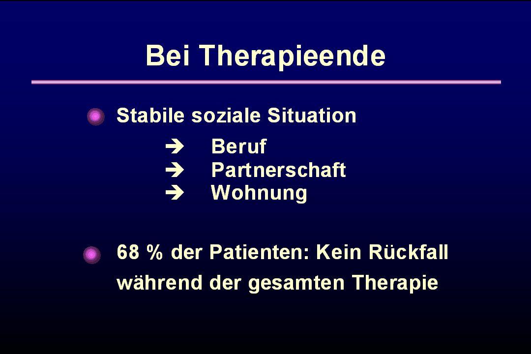 Bei Therapieende konnten wir insgesamt eine stabil soziale Situation nachweisen.
