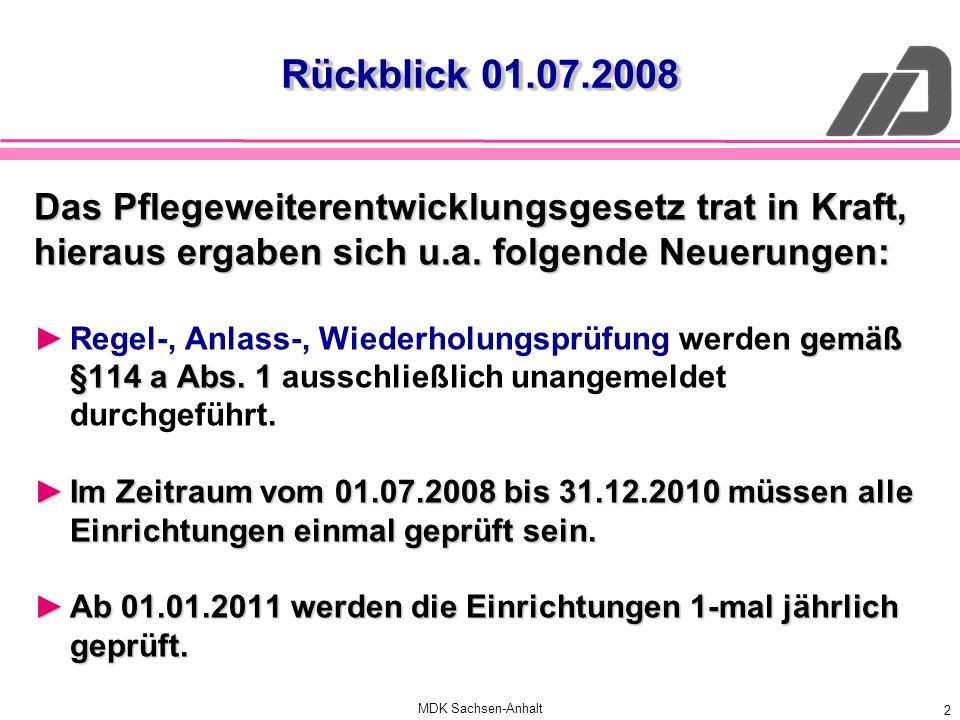 Rückblick 01.07.2008 Das Pflegeweiterentwicklungsgesetz trat in Kraft,