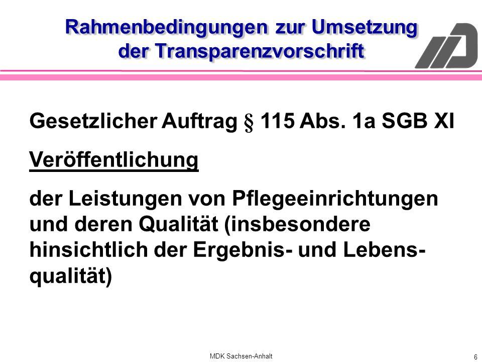Rahmenbedingungen zur Umsetzung der Transparenzvorschrift