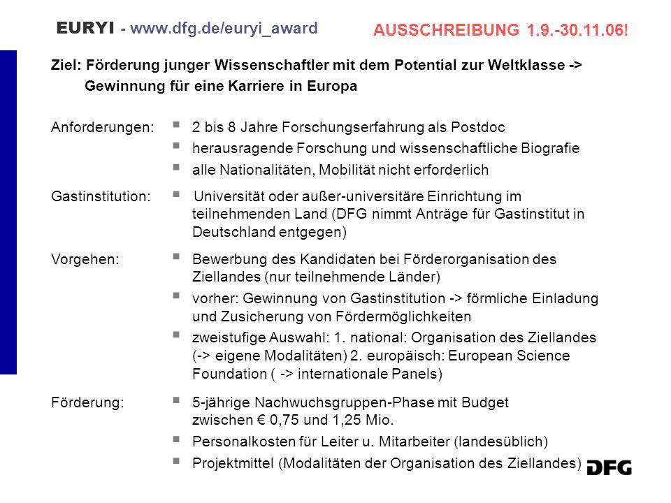 EURYI - www.dfg.de/euryi_award