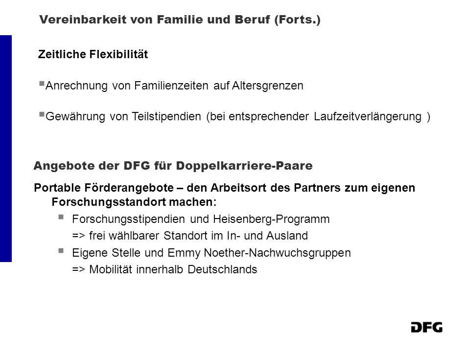 Angebote der DFG für Doppelkarriere-Paare
