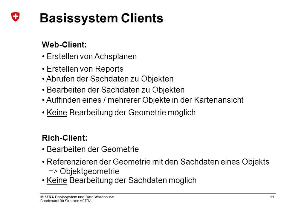 Basissystem Clients Web-Client: Erstellen von Achsplänen
