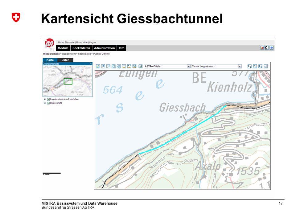 Kartensicht Giessbachtunnel