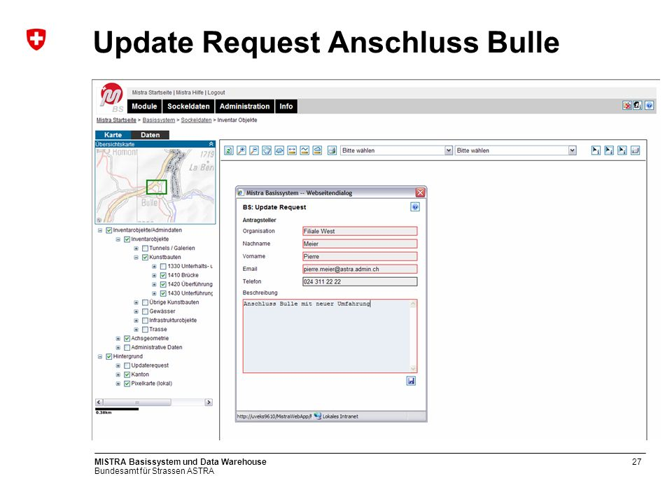 Update Request Anschluss Bulle