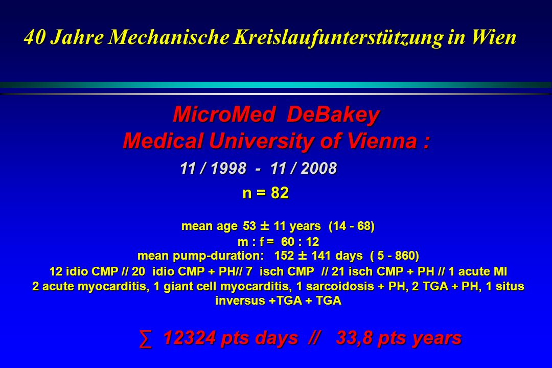 MicroMed DeBakey Medical University of Vienna :