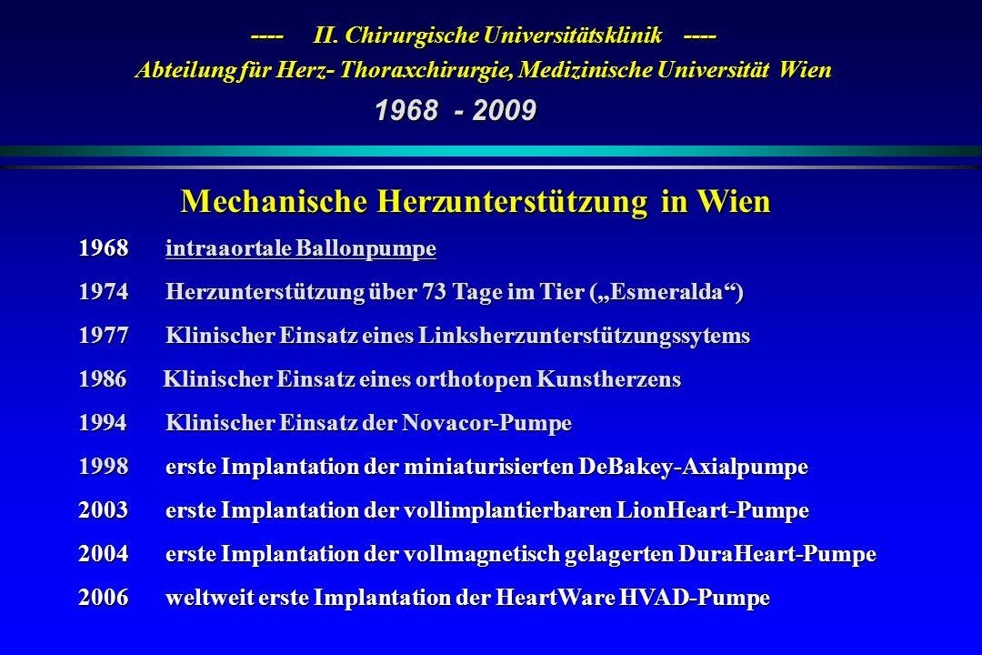 Mechanische Herzunterstützung in Wien