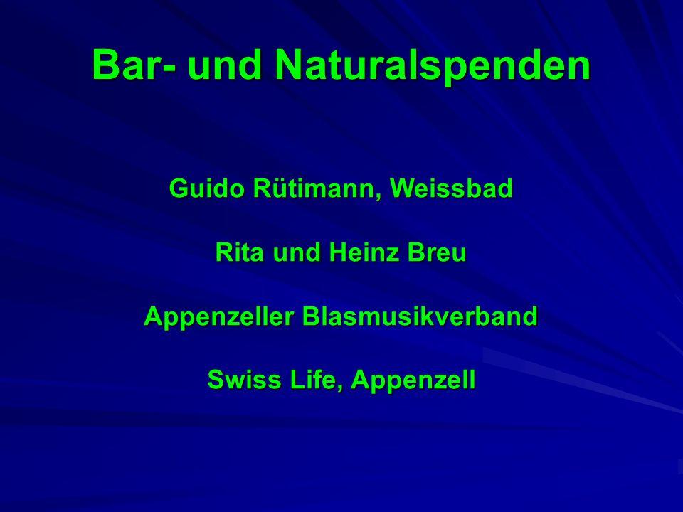 Bar- und Naturalspenden