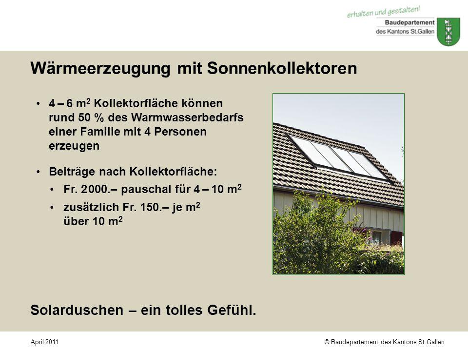 Wärmeerzeugung mit Sonnenkollektoren