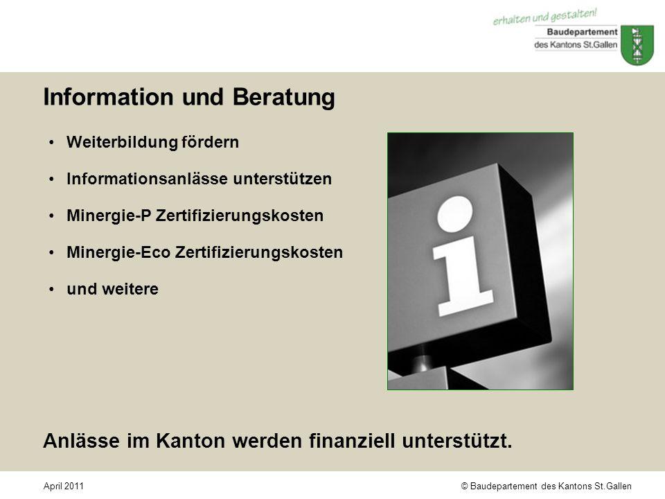Information und Beratung