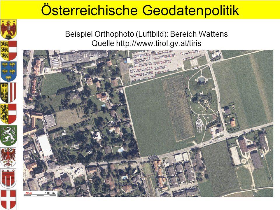 Beispiel Orthophoto (Luftbild): Bereich Wattens Quelle http://www