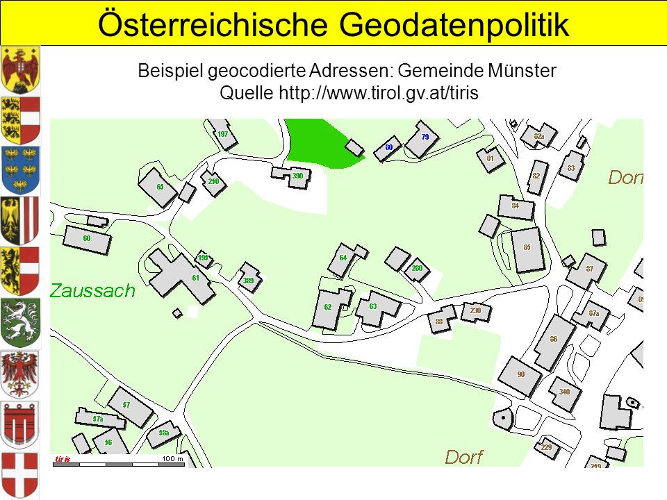 Beispiel geocodierte Adressen: Gemeinde Münster Quelle http://www