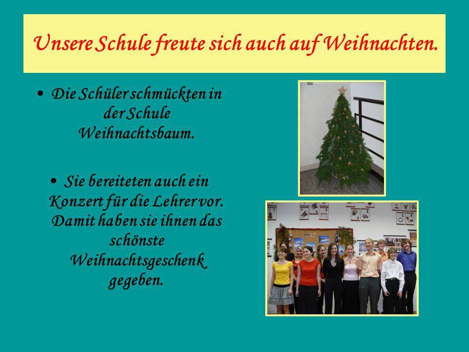 Unsere Schule freute sich auch auf Weihnachten.