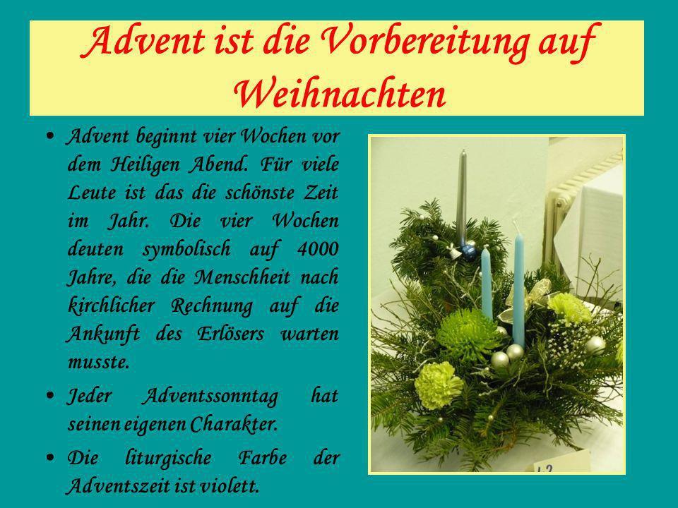 Advent ist die Vorbereitung auf Weihnachten
