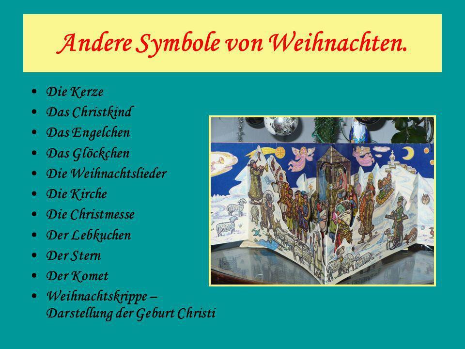 Andere Symbole von Weihnachten.
